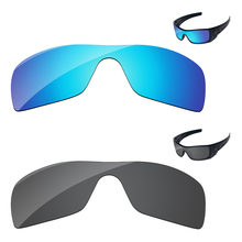 Black & Ice Blue 2 Pieces Polarized Replacement Lenses For Batwolf Sunglasses Frame 100% UVA & UVB Protection(China)
