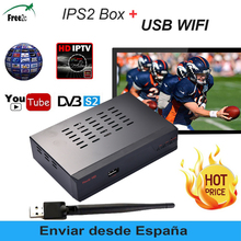 IPS2 Plus Digital Satellite Receiver Full HD 1080P DVB-S2 support 1Year cccam & French IPTV spain/Poland/IT/Europe2500+IPTV