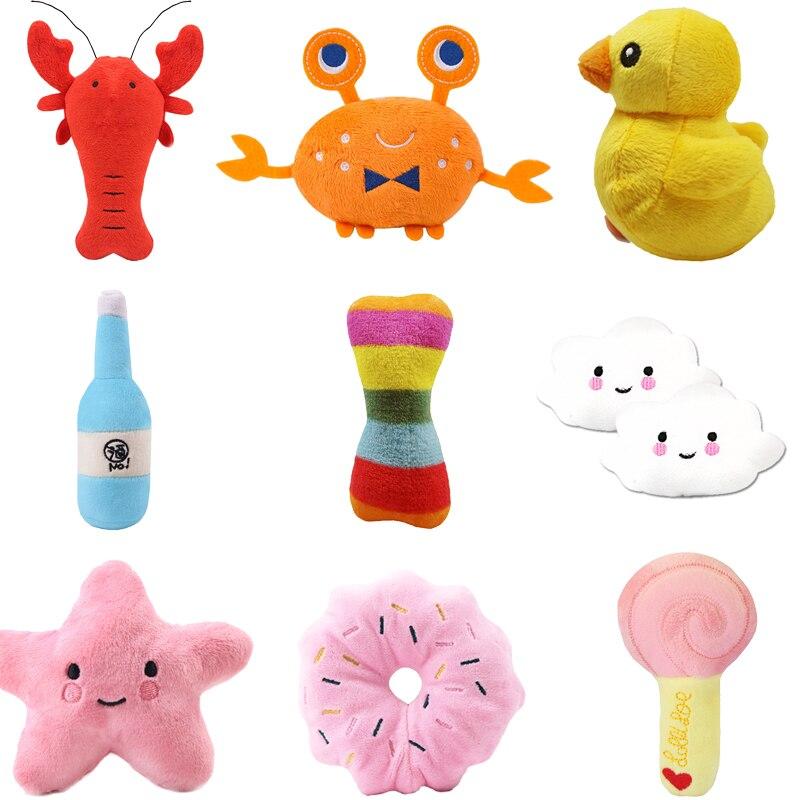 Śliczne skrzypiące zabawka Dla szczeniąt Dla małych psów miękki polar żuć Zabawki Dla Psa kształt zwierząt akcesoria Dla psów produkty Dla zwierząt domowych Zabawki Dla Psa