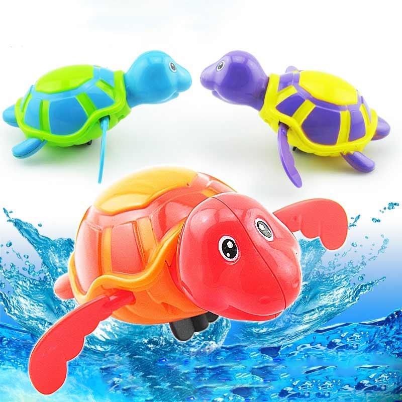 Play Turtles Water Kids Bath Pool Tub Animals Sounding Toys Swim Clockwork 88 YJS Dropship