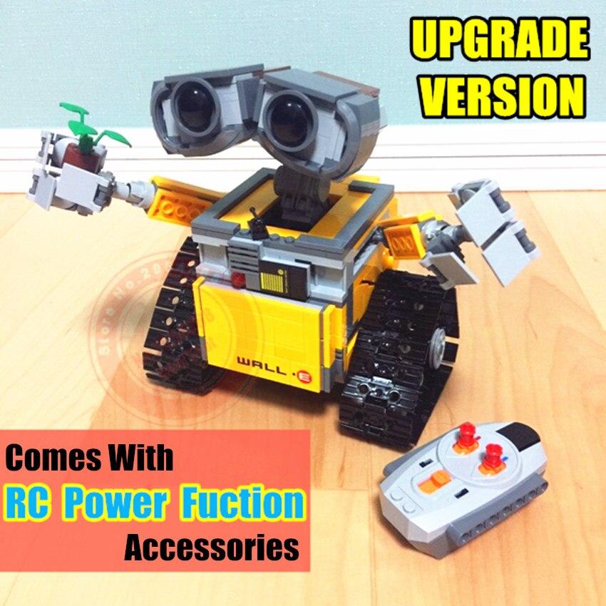 Nouveau IR RC piste puissance fonction mur E Robot fit mur E idée technique chiffres bloc de construction brique bricolage jouet 21303 cadeau enfant