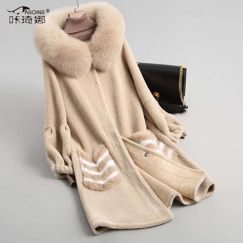 Autumn Winter Warm Long Coat Real Fox Fur Collar Hooded Coats Women Clothes 2018 Vintage 100% Wool Overcoat Abrigo Mujer 18039