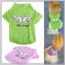 Cute Pet Dog Clothes Breathable Summer Vest Angel Wings Dogs For Small Pets Costume Mascotas