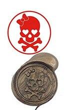 Skull Vintage Custom Luxury Wax Seal Sealing Stamp Brass Peacock Metal Handle Sticks Melting Spoon Wood Gift Box Set