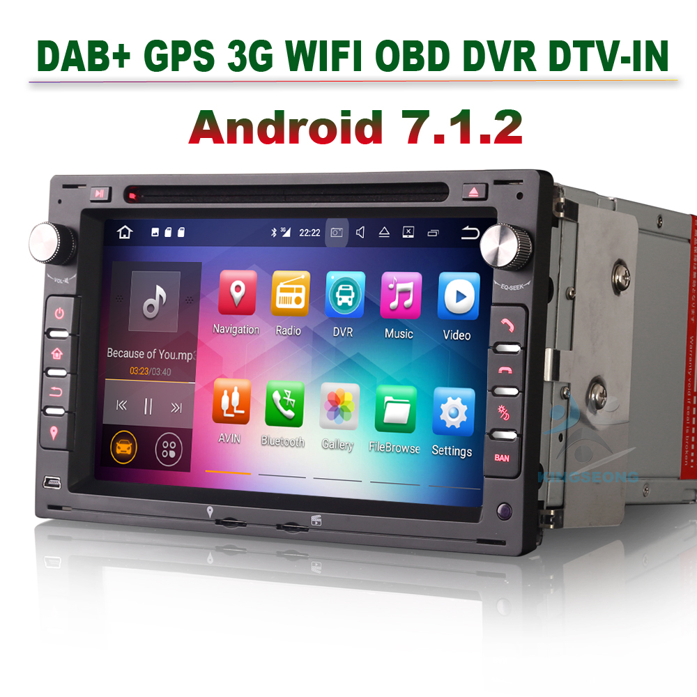 Android 7.1.2 Car DVD Player GPS Navigation For VW TRANSPORTER T4 T5 DAB+ Radio Navi 3G WIFI OBD Bluetooth MP3 CD DVR DTV-IN