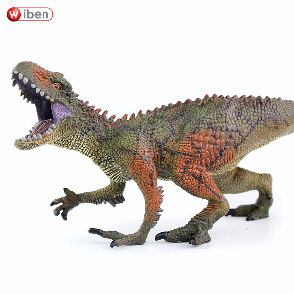 Wiben Jurassic Carcharodontosaurus toy Dinosaur Action & Toy Figures Animal Model Collection Vivid Hand Painted Souvenir Gift 5pcs lots 2017 film extraordinary corps mecha five beast hand collection model toy