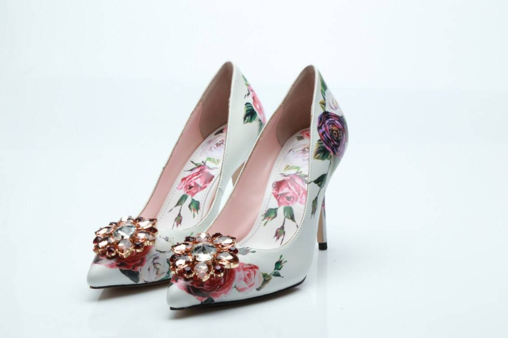 comprar 2018 nueva moda zapatos de novia flor slip en bombas