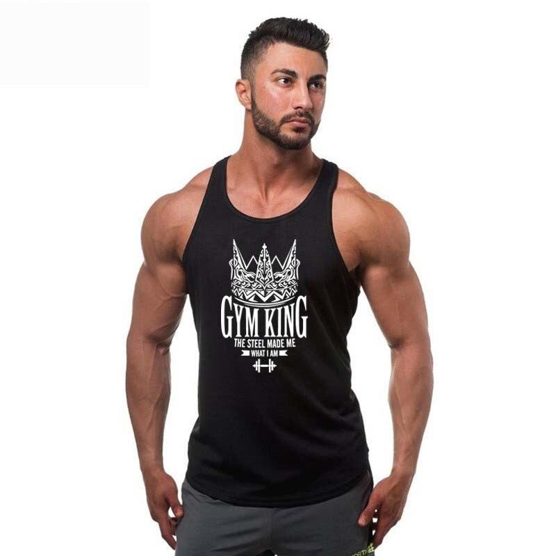2018 Fashion Men Brand clothing Bodybuilding Gyms sleeveless Tank Top men Fitness Vest Singlet sportswear workout tanktop