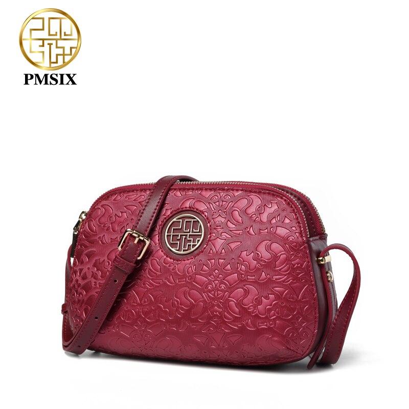 Pmsix ใหม่หรูหราผู้หญิงไหล่กระเป๋า crossbody กระเป๋าสำหรับสุภาพสตรีสีแดง/สีม่วงขนาดเล็ก PU messenger กระเป๋า soft คุณภาพ-ใน กระเป๋าหูหิ้วด้านบน จาก สัมภาระและกระเป๋า บน   2