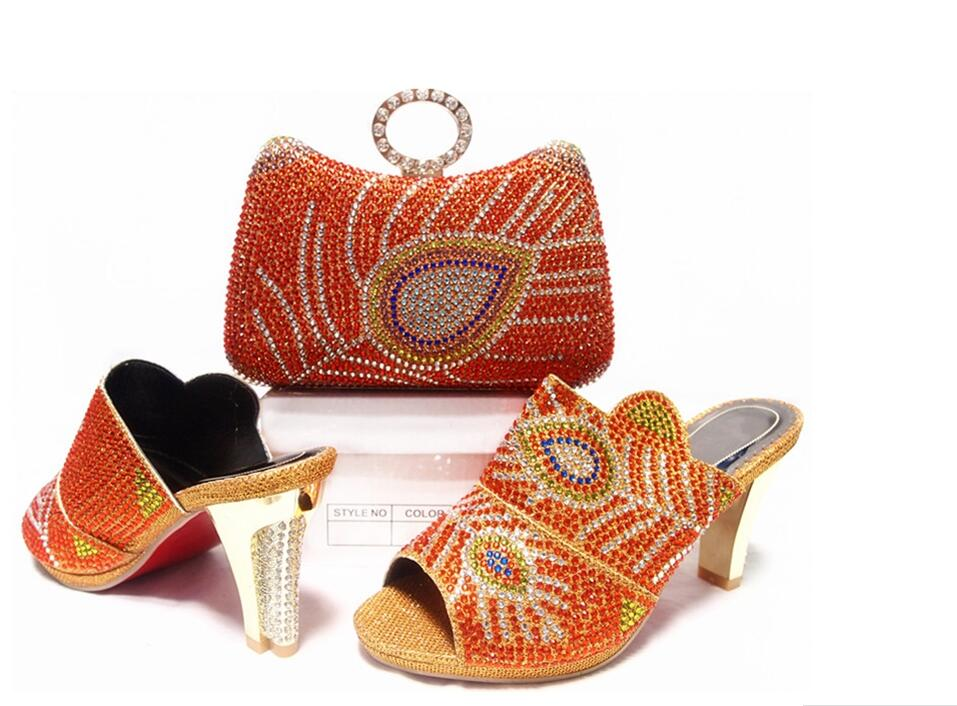 ФОТО Shoes and Bag Nigerian Party Shoes and Bag Set High Quality Matching Shoes and Bag Set Wedding Shoes and Bag High Heels JA10-6