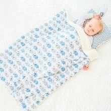 Ins Baby Blanket Double Layer Soft Flannel Infant Swaddling Envelope Stroller Wrap for Newborn Bedding Blankets 70*102cm