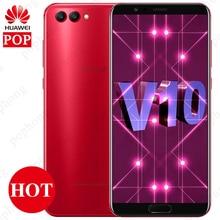 Küresel Rom Huawei Onur V10 Görünüm 10 6 GB RAM Smartphone Kirin 970 Octa Çekirdek NFC Android 8.0 16.0MP + 20.0MP Çift Arka Kam...