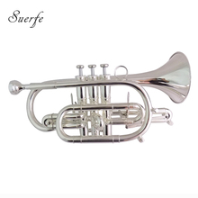 Bb Brass Cornet Silver plated Bell 119mm with Case Musical Instruments trumpet