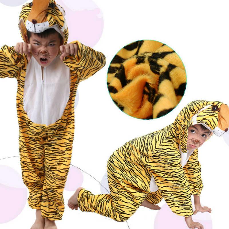 Hayvan Cosplay Sevimli Pijama Tulumlar Kostüm Yetişkin Karikatür Güzel Çocuklar Renkli Tulum Polar Karnaval Cadılar Bayramı Partisi