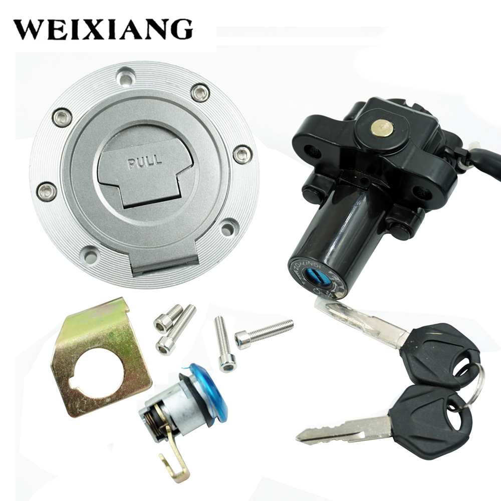Motorcycle Ignition Switch Fuel Tank Cover Lock Assembly With Key Gas Cap Engine Hook Locking Key 1992-2013 стоимость