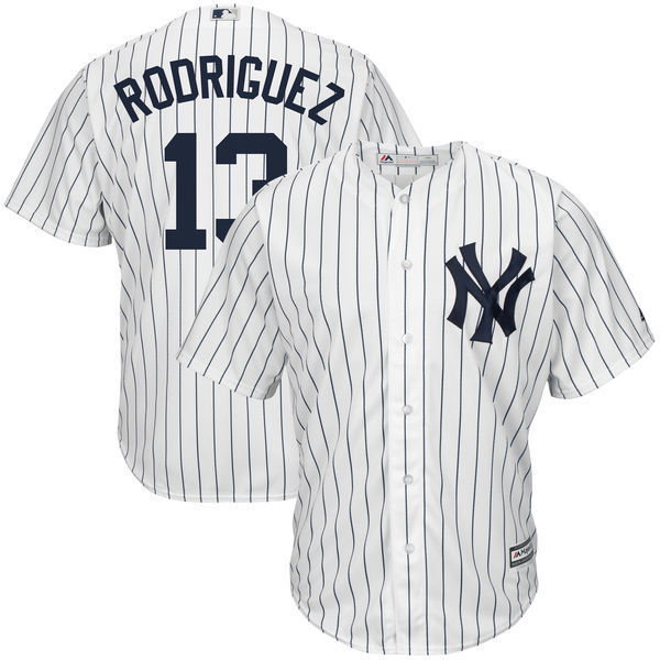 MLB Для мужчин Нью-Йорк Янкиз Алекс Родригес Бейсбол Белый дом Прохладный База плеер Джерси ...