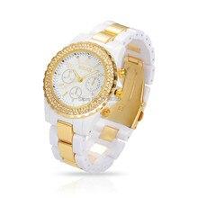 Femmes Quartz Montres De Luxe Marque Strass Montres Unisexe Mode Casual Horloge Heures Relogio Feminino Reloj Noir/Blanc