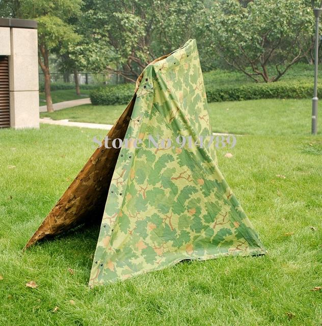 Vietnam War US Military Army Outdoor Tactical Camouflage Half Shelter Tent - 36271 & Vietnam War US Military Army Outdoor Tactical Camouflage Half ...