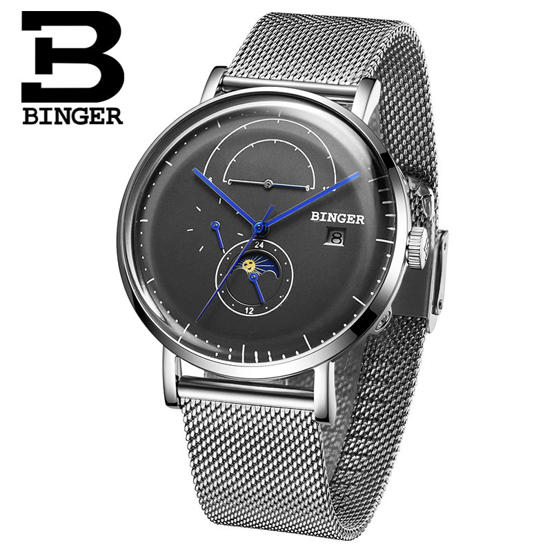Switzerland BINGER Men Watch Luxury Brand Automatic Mechanical Mens Watches Sapphire Male Japan Movement reloj hombre B8610-9 switzerland binger watch men 2017 luxury brand automatic mechanical men s watches sapphire wristwatch male reloj hombre b1176g 6