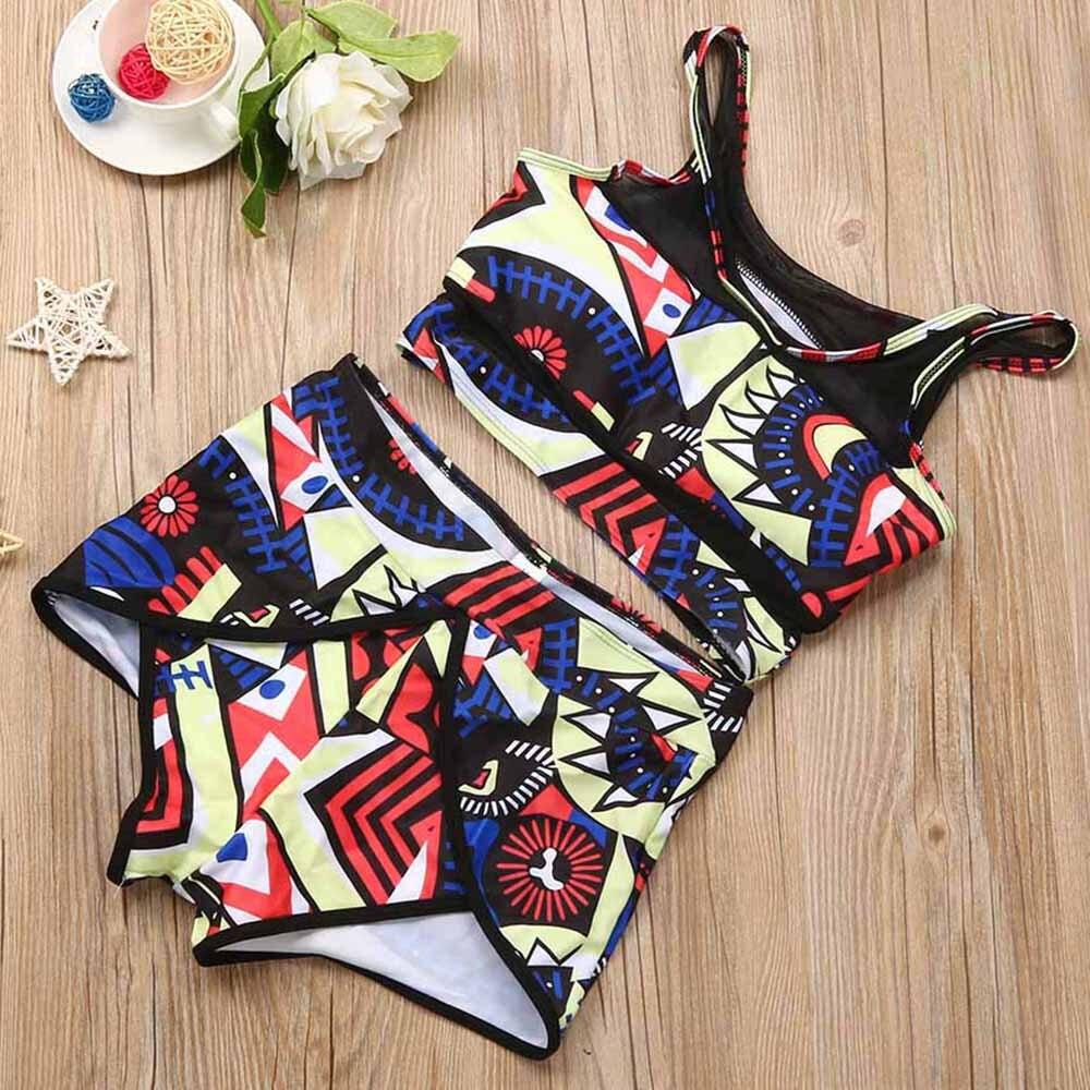 54deee3c1e99 Bikini Halter de playa traje de baño de alta cintura de gran tamaño Bikini  2 piezas de las mujeres traje de baño traje de bao mujer y-NEW