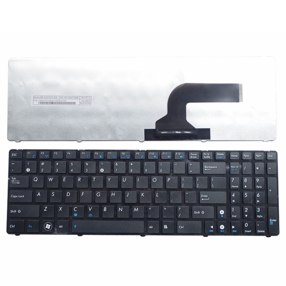 US For ASUS G72 X53 X54H k53 A53 A52J K52N G51V G53 N53T X55VD N73S N73J P53S X53S X75V B53J UL50 Laptop Keyboard Black New