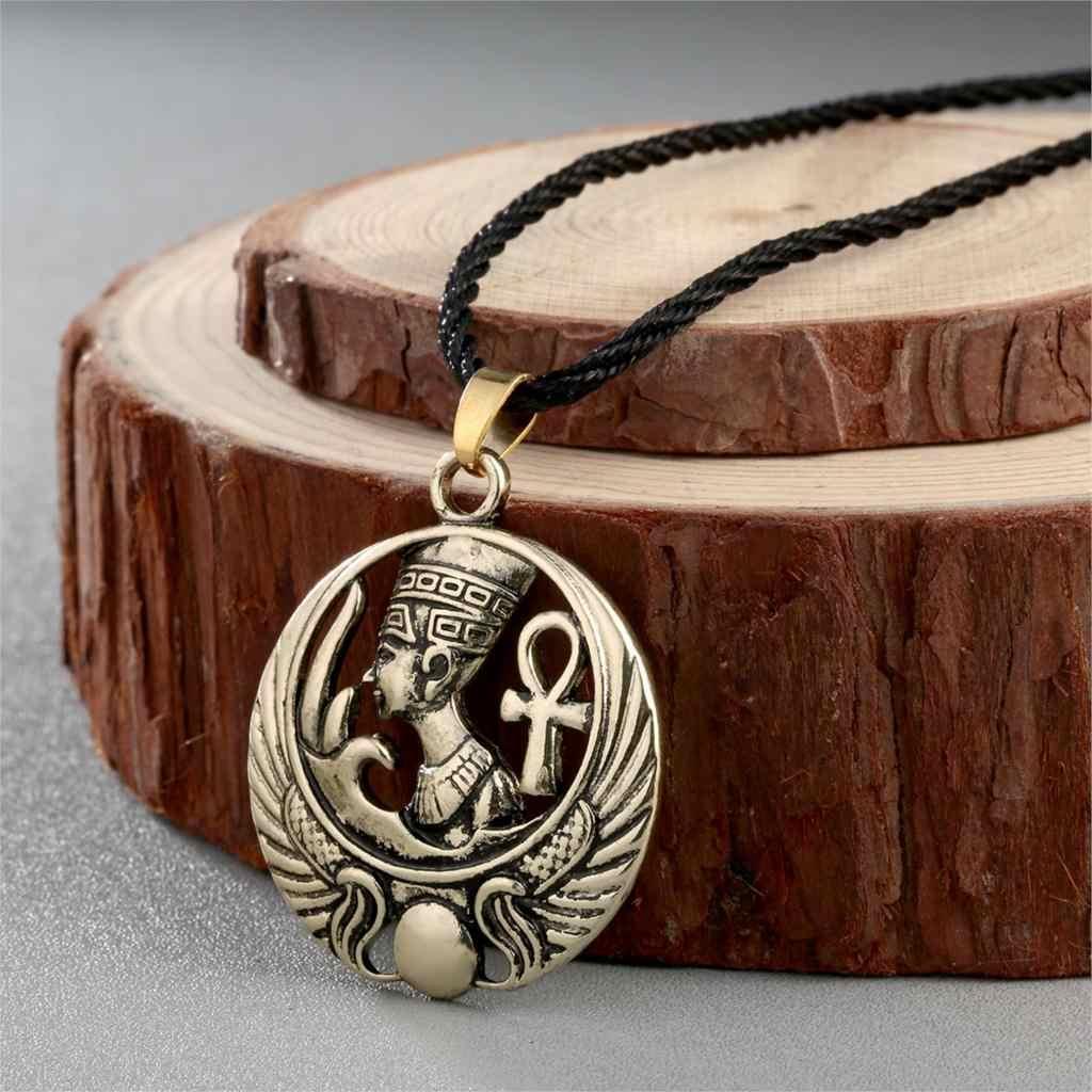 Retro Egiziano Ankh Collana Per Le Donne Degli Uomini Anubis Amuleto Del Pendente Dell'orecchino Set Vecchio Antico Egitto Dea Croce Dei Monili Della Collana
