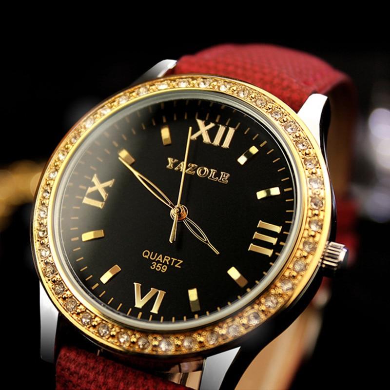 YAZOLE Brand Luxury Diamond Watch Fashion Gold Watch Women Watches Ladies Quartz Watch Lady Hour montre femme relogio feminino yaqin quartz women watch simple fashion watch women top brand luxury waterproof watch relogio feminino montre femme