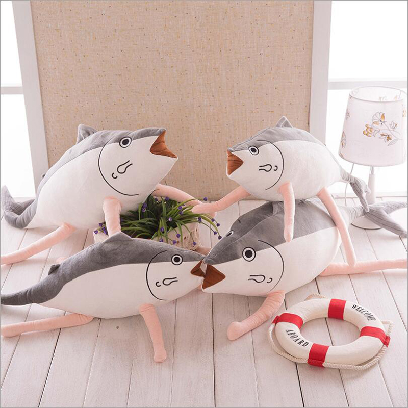Creative Lovely Saury Fish Plush Toy Stuffed Animal Doll Salted Pillow Birthday Gift for Children Kids