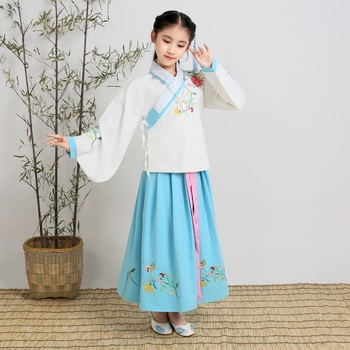 Tang Dynasty Princess Dress for Girls Retro Ancient Costume Chinese Traditional Dancewear Girls Hanfu Dress Halloween Costume