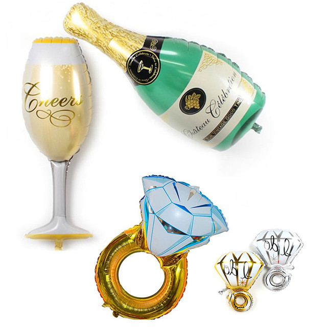 Wedding Diamond Balloon Beer Cup Foil Balloons Birthday Party Decorations Adults Kids Bridal Shower Bachelorette Party Supplies
