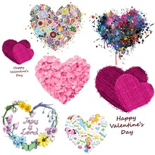 Prajna Printed Iron On Transfer Heat Vinyl Sticker Transfers For Clothes Flower Butterfly Heart Patch Applique