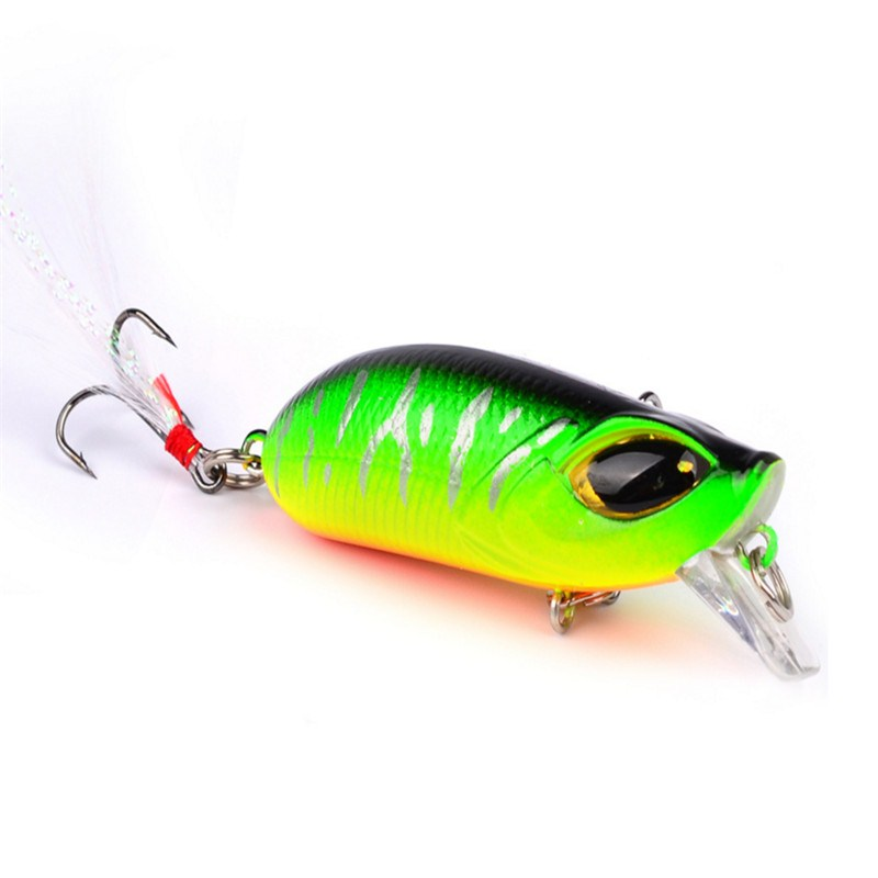 1PCS Fishing Lures 8.3g 5.5cm Minnow Handmake Hard Wobblers Bass Pike Crankbait 3D Eyes Plastic Baits Winter Fishing Tackle