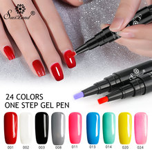 Saviland Newest 3 In 1 Gel Nail Varnish Pen Glitter One Step Nail Gel Polish Hybrid 60 Colors Easy To Use UV Gel Lacquer