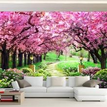 Beibehang Custom 3D photo wallpaper cherry tree garden garden path landscape mur