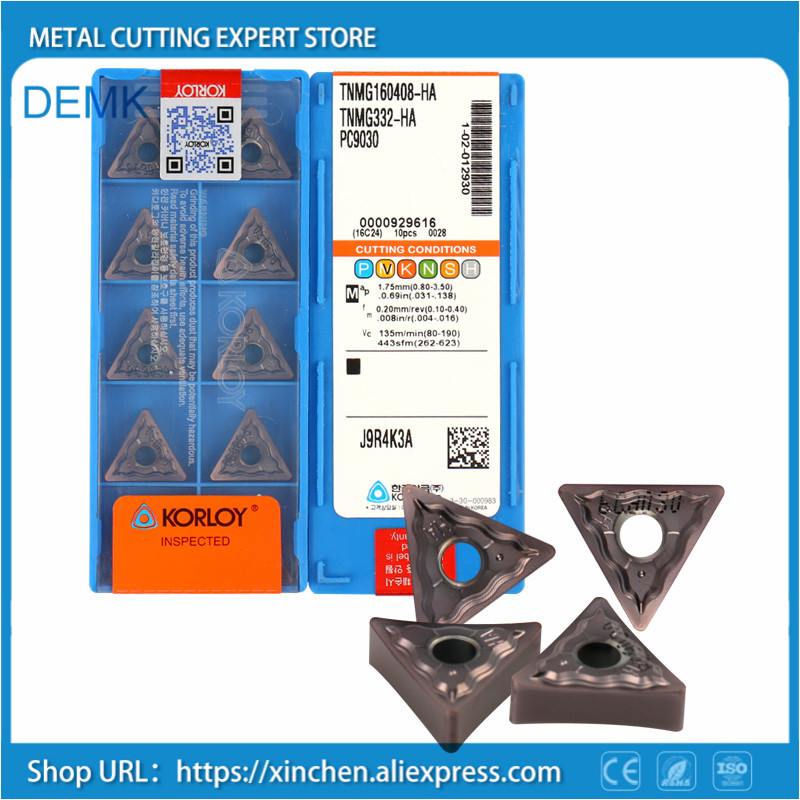 TNMG160404 HM PC9030 Carbide Turning Insert,Plate for Lathe Holder MTJNR ,Suitable for Processing Stainless Steel
