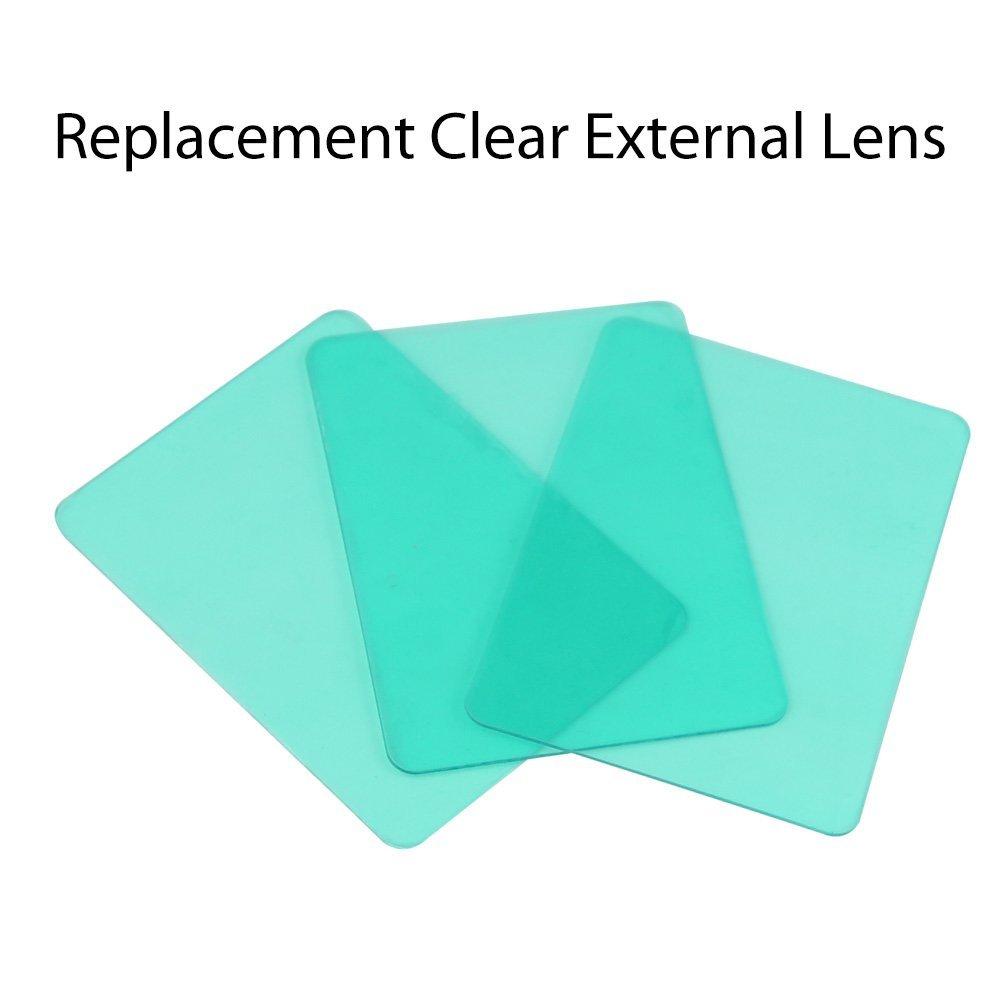 10 Uds repuesto de lentes 11,5x9x0,1cm para caretas de soldar DEKO S500