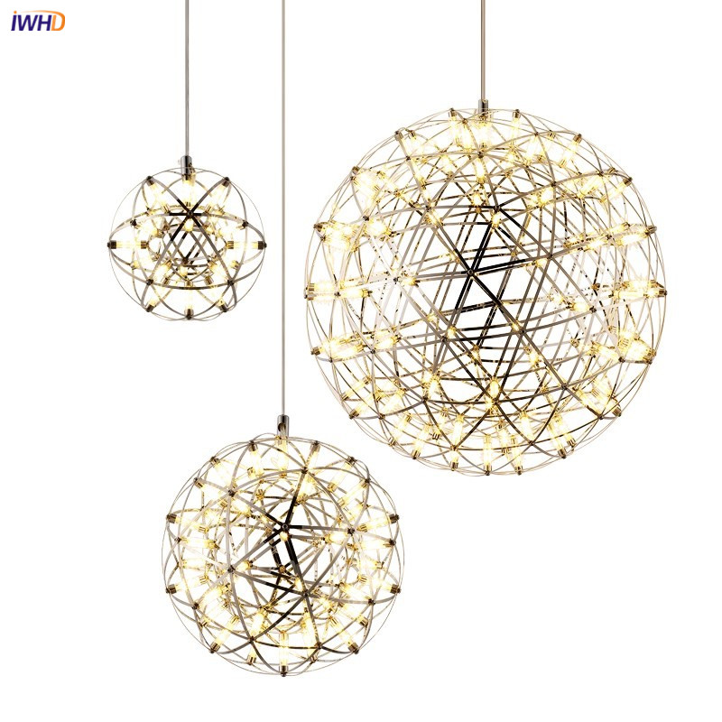 IWHD Ball Nordic LED Pendant Lamp Dinning Living Room Kitchen Hanging Light Modern Pendant Lights Fixtures Luminaire Suspendu