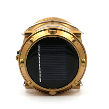 LED Solar Powered Collapsible Flashlights Portable Lamp LED Rechargeable Hand Lamp Hiking Camping Lantern Light Outdoor Lighting