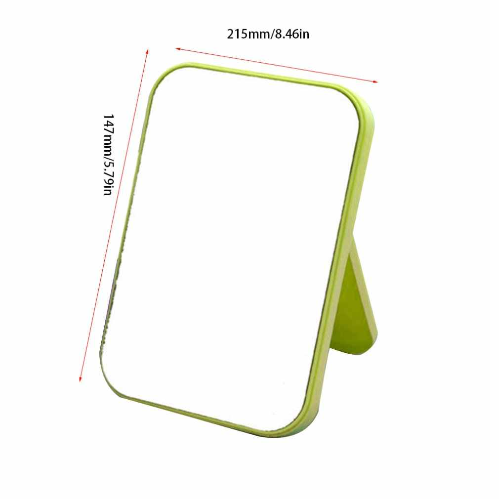 Portable Facial Makeup Mirror Compact Foldable Desktop Makeup Mirror Women Beauty Tool Dresser Cosmetic Mirror