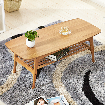 Japanese style tea table Nordic oak wood modern simple ...