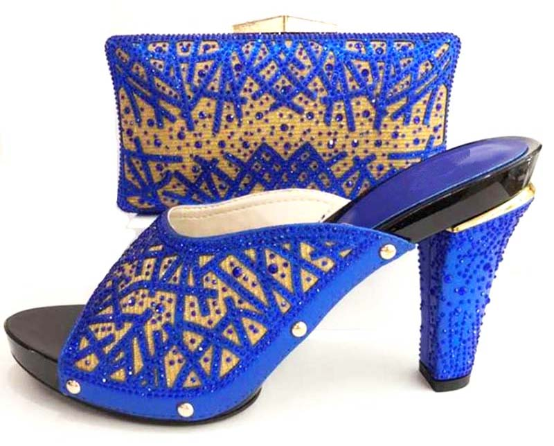 все цены на Royal blue shoes and bag to match for african lady aso ebi shoes and bag set new italian shoes and clutches bag blue SB8173-3