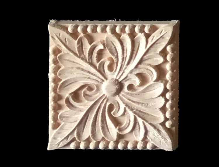 Wood appliques pcs wood carving frame for furniture cabinet door