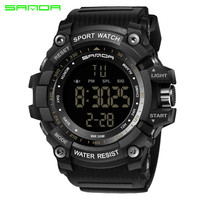 SANDA Brand Men S Sports Watches Hot Fashion Casual LED Digital Watches Multi Functional Military Watches