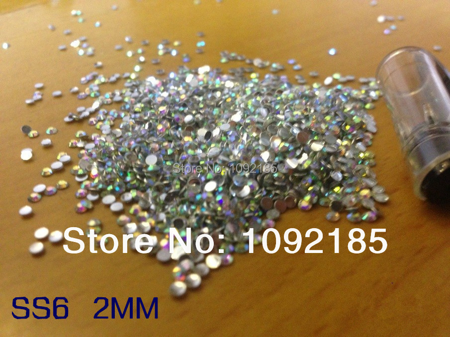 2014 new arrival special offer nails ss6 2mm 100000pc/lot crystal abflat back acrylic rhinestones for nail art free shipping special hard concrete nails wall paintings nail