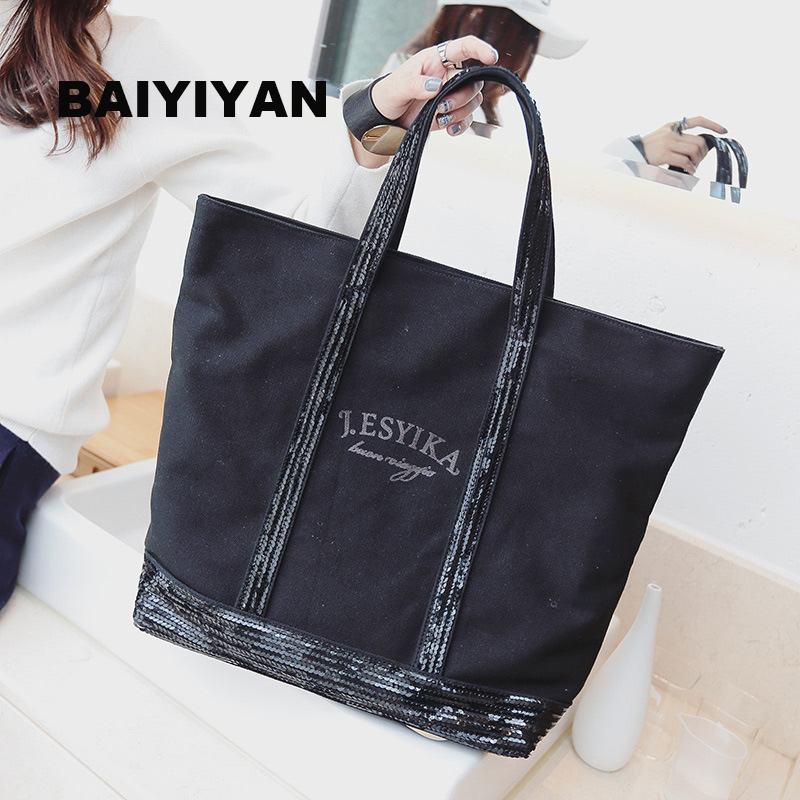 2016 Autumn New Korean Version Of Casual Women s Singles Shoulder Bag Big Bag Canvas Bag