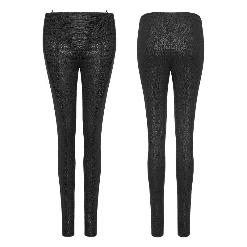 PUNK RAVE femmes pantalons Punk mode personnalité Pu cuir noir Leggings Sexy Hip Hop Streetwear Skinny pantalon - 5