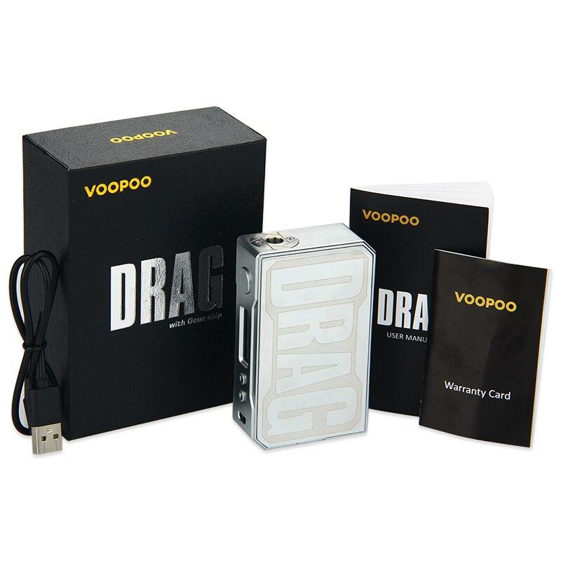 D'origine VOOPOO GLISSER 157 w Boîte MOD avec NOUS GÈNE puce Température TC Contrôle e cigarette 157 w 18650 boîte mod Vaporisateur Pro 0.05-3.0 Bobine - 6