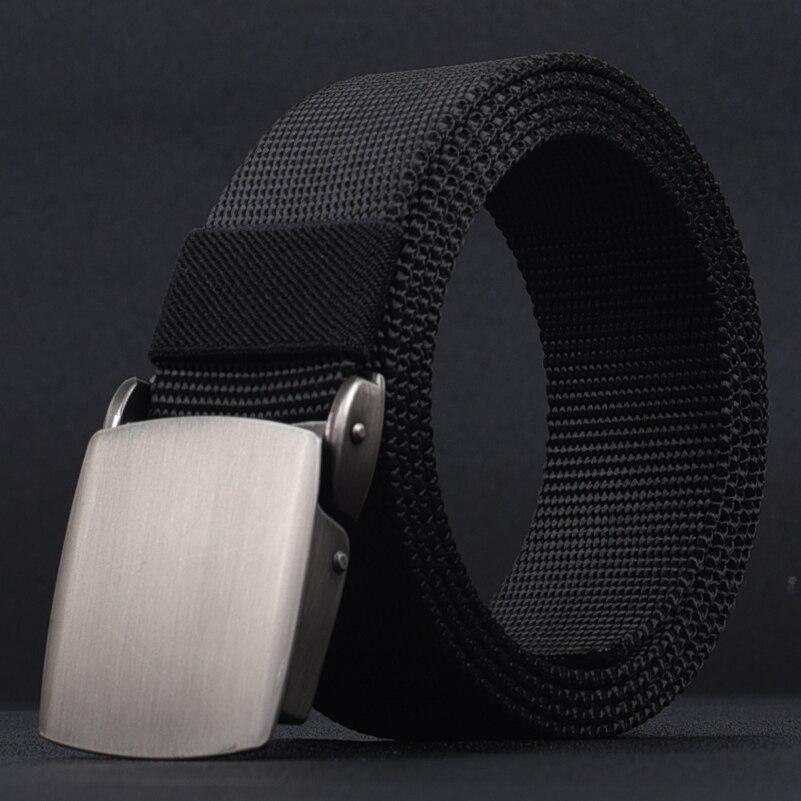 Alloy Automatic Buckle Male   Belt   Tactical Canvas Waist Adjustable Fashion Army Style Men   Belts   Cummerbunds