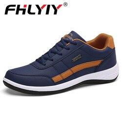 2019 homens sapatos de couro sapatos casuais sapatos casuais respirável rendas até sapatos casuais primavera sapatos masculinos chaussure homme