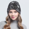 New Fashion Lace Flower Hats Casual Style Cap Elegant Spring Autumn Vintage Skullies Feminino Beanies Hat For Women Caps